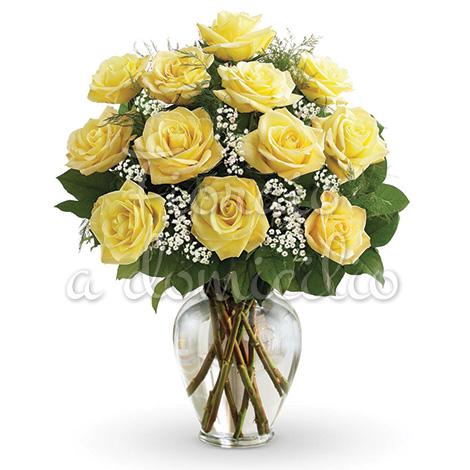 dodici-rose-gialle