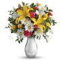 bouquet_gigli_margherite_fiorellini_rossi