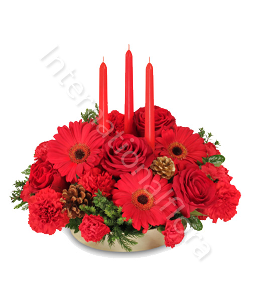 centro-tavola-con-rose-gerbere-e-garofani