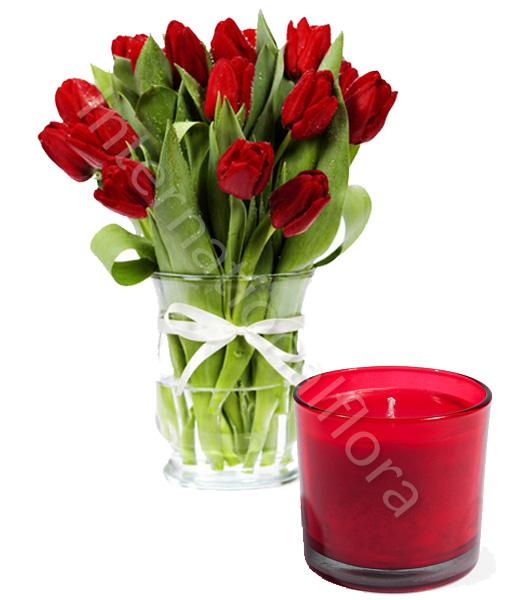 bouquet-di-tulipani-con-candela