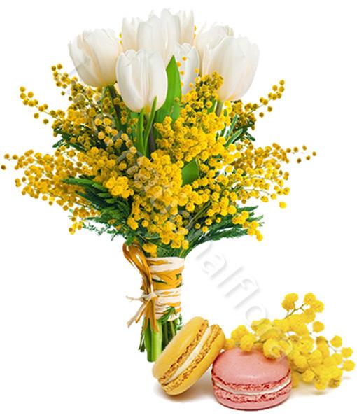 bouquet-di-mimose-e-macaron