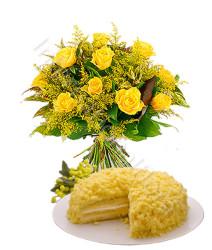 bouquet-di-mimose-e-rose-con-torta-mimosa