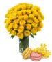 bouquet-di-rose-gialle-con-macaron
