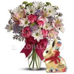 bouquet-di-fiori-misti-con-coniglietto