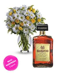 bouquet_rose_margherite_amaretto_disaronno