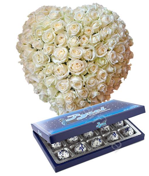 cuore-100-rose-bianche-baci-perugina1