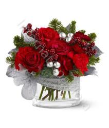 bouquet-natale-rose-e-garofani-argento