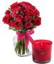 bouquet-di-rose-rosse-e-rosa-con-candela